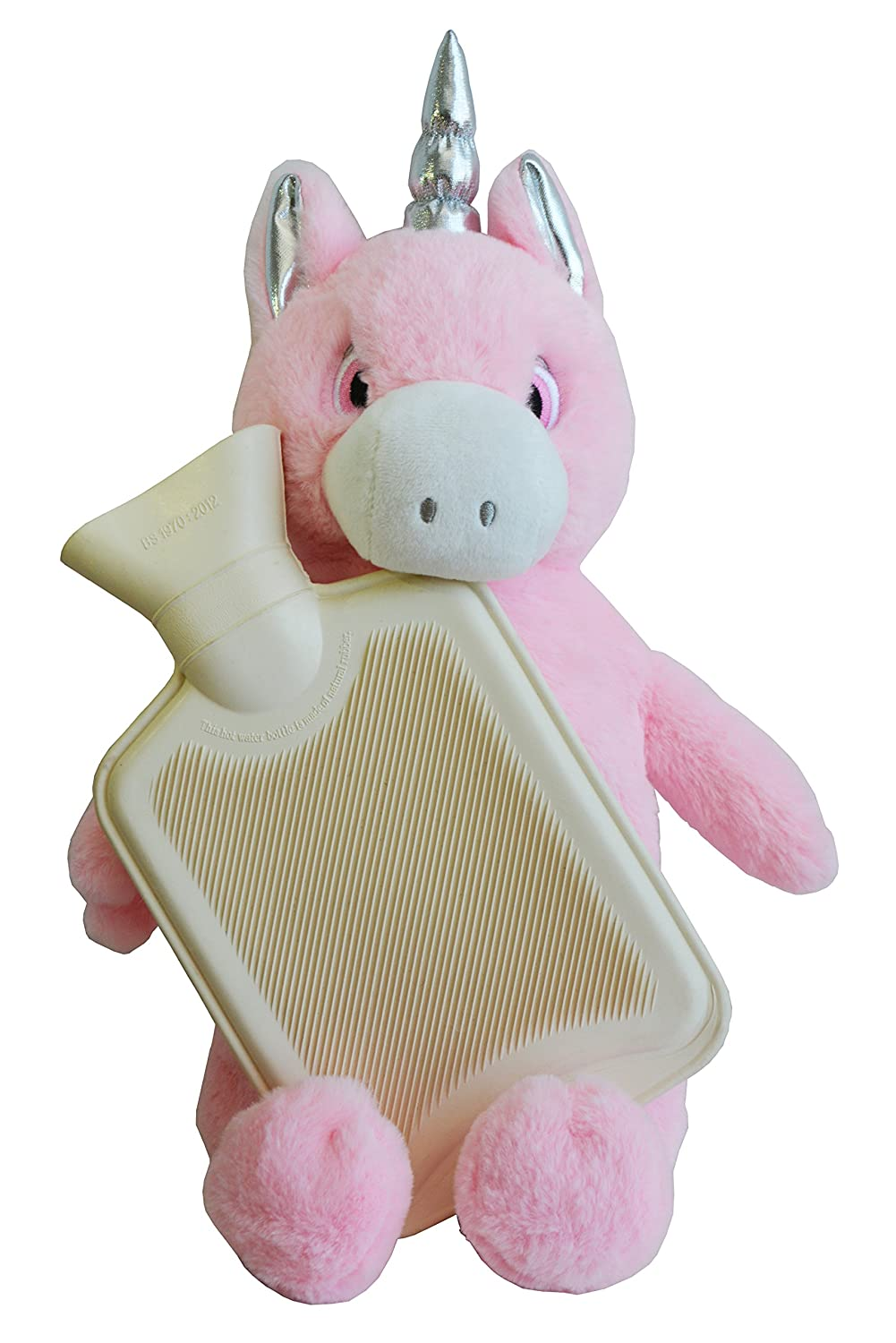 1 Litre Fill. Unicorn Hot Water Bottle Pink Soft /& Cosy