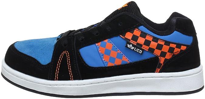 Lico Scooter Low 530226 - Zapatillas de deporte de cuero para niño, color negro, talla 38