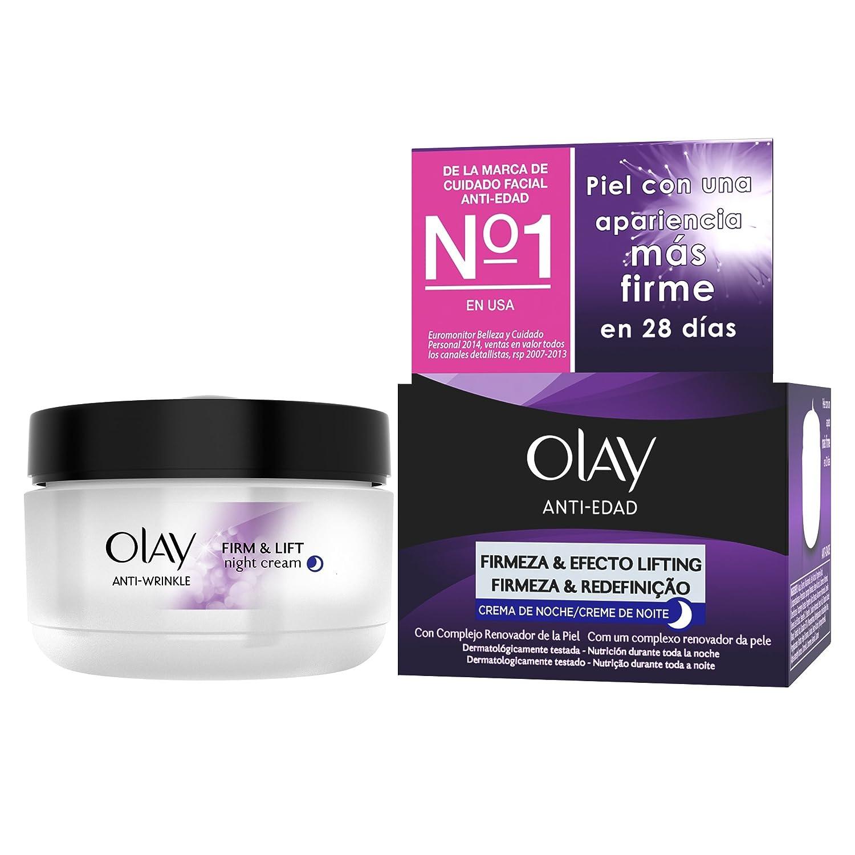 Olay Anti-Edad Firmeza & Efecto Lifting Crema Reafirmante de Noche - 50 ml: Amazon.es: Amazon Pantry