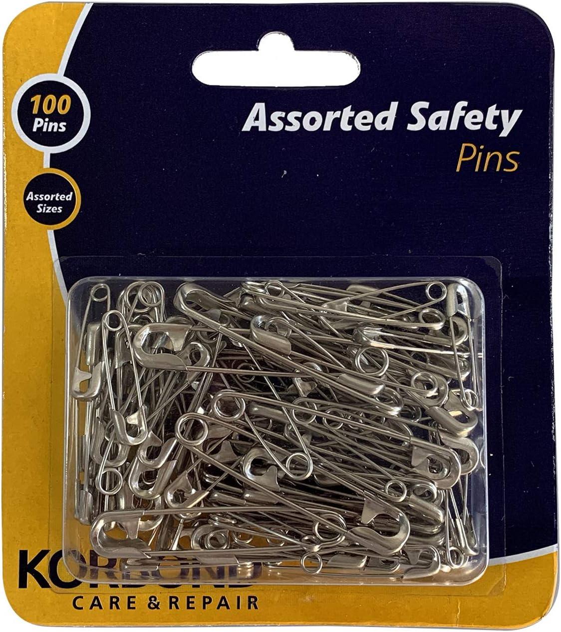 Korbond 2 X 50-Piece Safety Pins