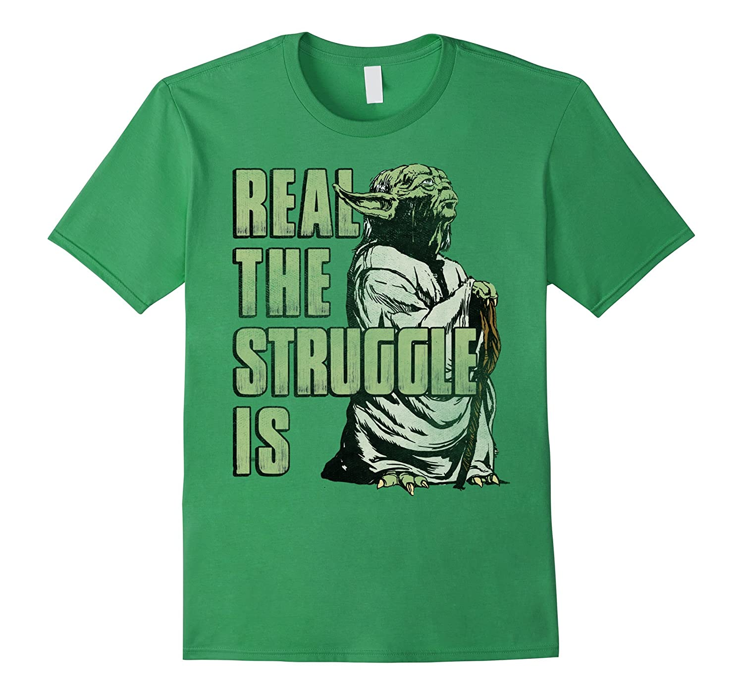Yoda Real The Struggle Is Graphic T Shirt-ln