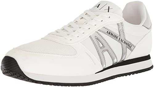 ARMANI EXCHANGE - Zapatillas para Hombre Negro Size: US 12 / IT 46.5 / UK 46.5: Amazon.es: Zapatos y complementos