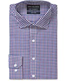 Van Heusen Men's Euro-Tailored Fit Multi Check Business Shirt