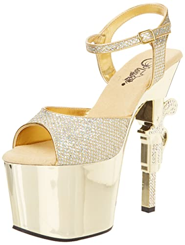 Pleaser Adore 708LG Platform Sandal(Women's) -Clear PVC/Silver Multi Glitter Discount Largest Supplier Outlet Low Shipping Cost Cheap Price Buy Cheap Reliable Clearance Shop Offer dKgG2Xf