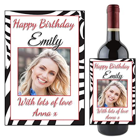 BIRTHDAY STICKERS ANY AGE 50TH PERSONALISED GLOSSY COCKTAIL 40TH 60TH