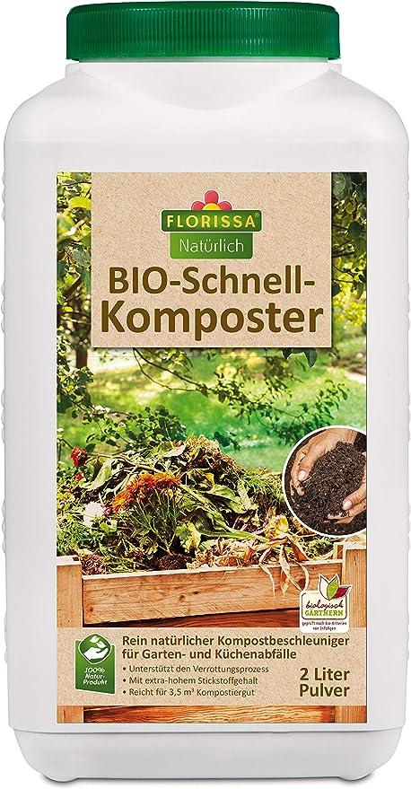 florissa Natural de Bio Compostador rápido (2 l): Amazon.es: Jardín