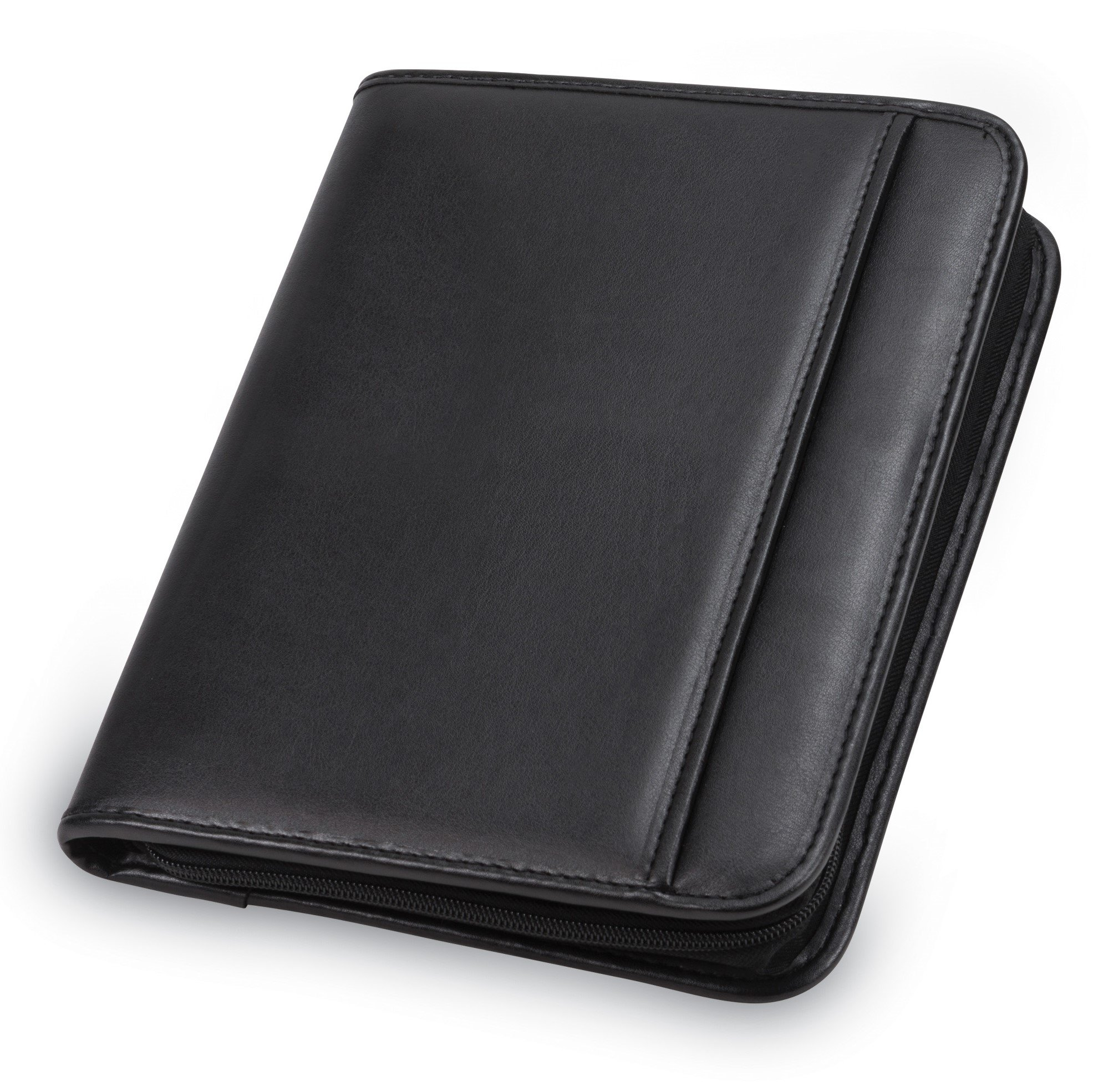 Samsill 70821 Professional Padfolio - Resume Portfolio / Business Portfolio with Secure Zippered Closure, Junior Size, 10.1-inch Tablet Pocket, Expandable Document Organizer & 7''x10'' Writing Pad