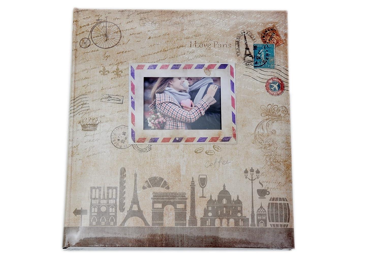 Travel Fotoalbum in Braun 29x32 cm 60 weiße Seiten Foto Album Fotobuch