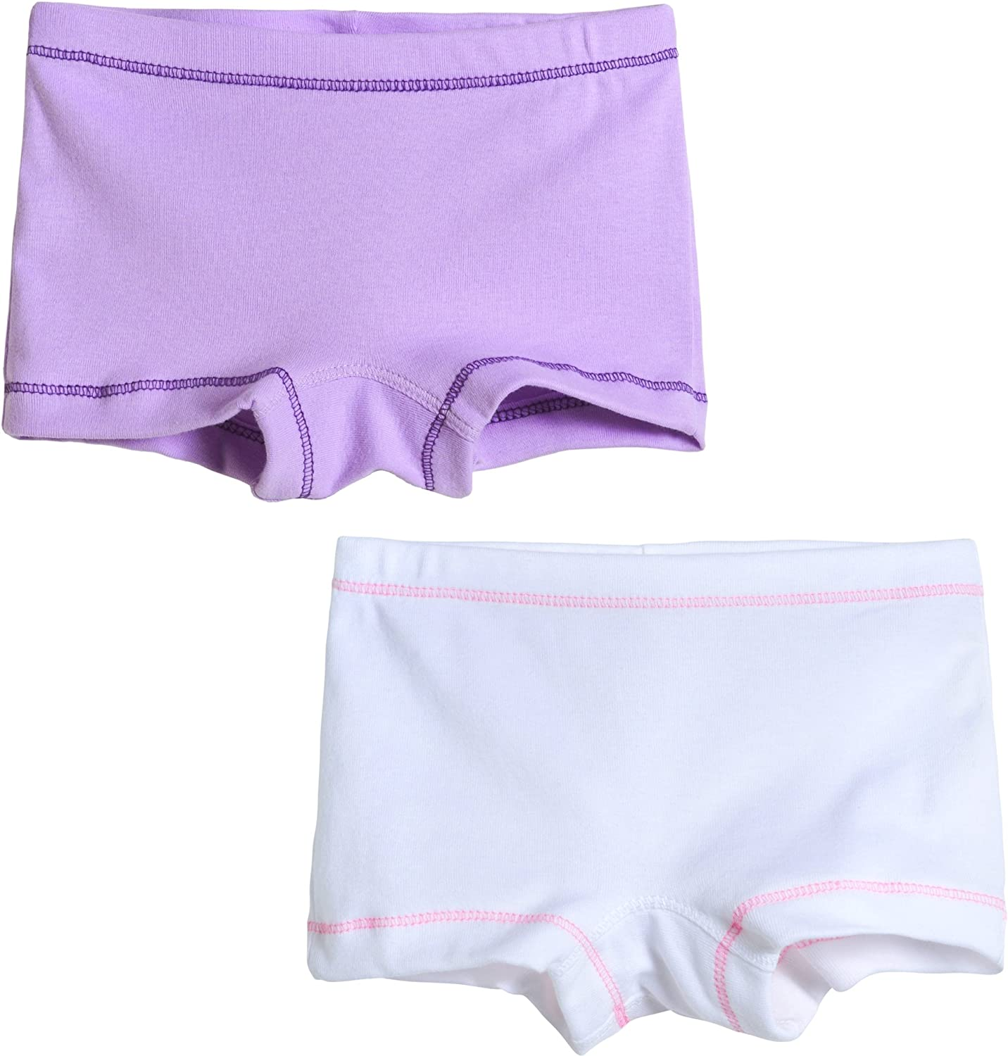 City Threads Girls 2-Pack Boyshorts Underwear Bloomers for Play and Under Dresses Made in USA