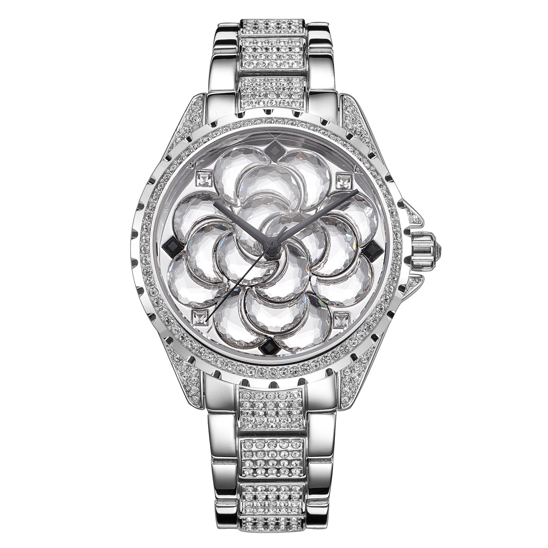 スワロフスキークリスタルがアクセントレディースDesigner Watch。A One of a Kind – Galaxyの星。Best Seller。シルバートーン。uw609621 B071J3J7KJ