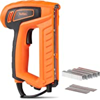 VonHaus 18-Gauge 2 In 1 Electric Brad Nailer and Stapler Gun Kit - Includes 400 Crown Staples and 100 Nails - Ideal for Light Duty Tasks
