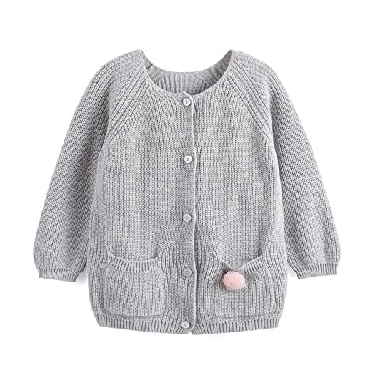 88a70a990 Amazon.com  Aimama Baby Girls Boys Knit Cardigan Cotton Front Botton ...