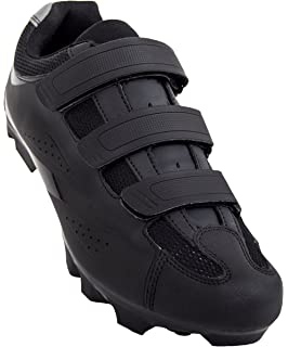 Tommaso Montagna 100 Mens Mountain Bike MTB Spin Cycling Shoe Compatible with SPD Cleats Black