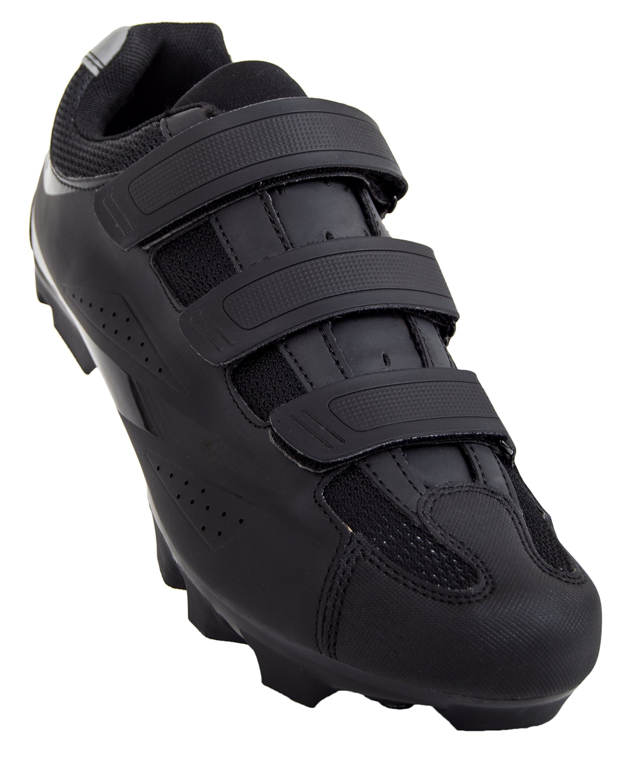Tommaso Montagna 100 Men's Mountain Bike MTB Spin Cycling Shoe Compatible with SPD Cleats Black - 44 by Tommaso