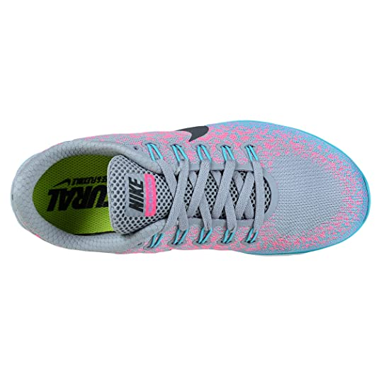 Nike Womens Free Rn Distance Wolf GreyDark GreyPink Blast Running Shoe 5 US