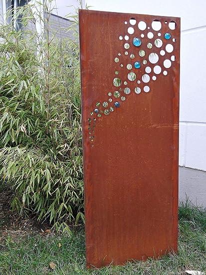 Edelrost Sichtschutz Wand Rost Sichtschutzwand Gartenzubehör,Metall 150*75 cm