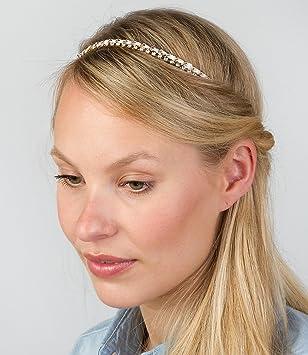 Six Funkelndes Haarband 2 Filigrane Haarketten Mit Gummi Im Nacken