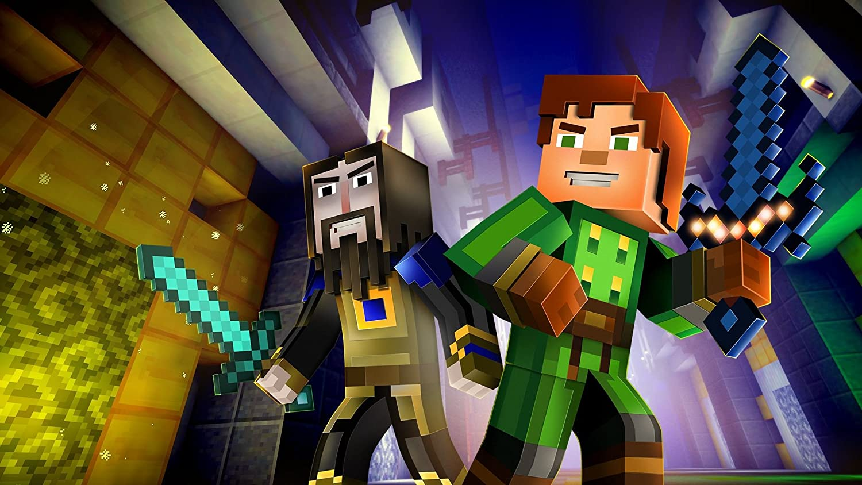 amazon com minecraft story mode the complete adventure wii u