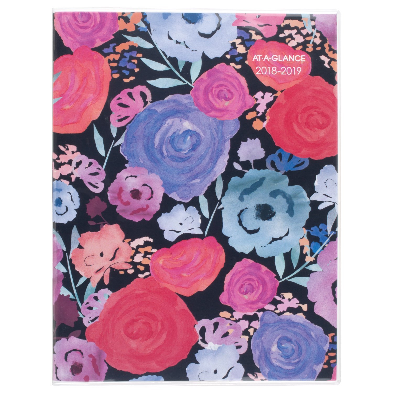 AT-A-GLANCE Academic Monthly Planner, July 2018 - June 2019, 8-1/2'' x 11'', Midnight Rose (1101-091A)