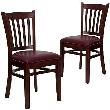 amazon com flash furniture 2 pk hercules series vertical slat back