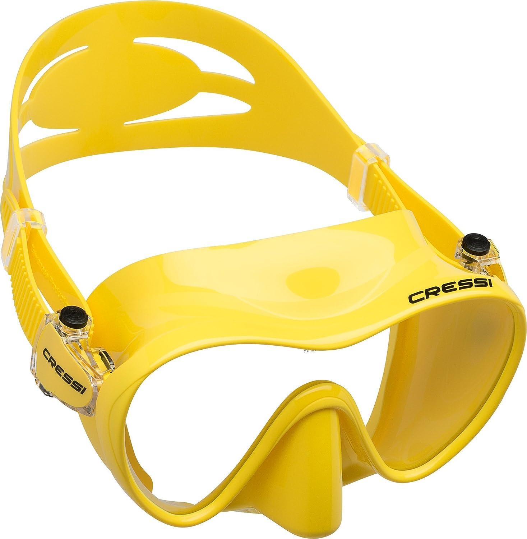 特価ブランド CRESSI(クレッシー)F1 (エフワン) フレームレス B00SKQPP9M (エフワン) ダイビングマスク 一眼レンズマスク シュノーケリング 水中メガネ 水中メガネ 内容積小さめ 高品質シリコン採用 B00SKQPP9M イエロー イエロー, 水谷商会:a1c5065b --- mcrisartesanato.com.br