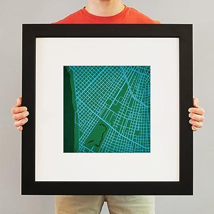 Amazon Com Tulane University Campus Map Art 23 Frame Mat