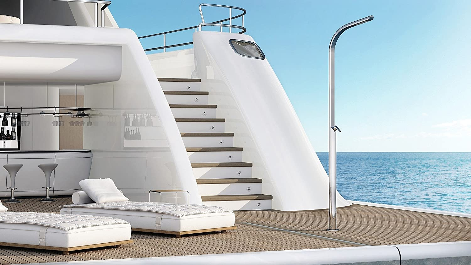 Exterior de acero inoxidable Ducha Dream Yacht M: Amazon.es ...