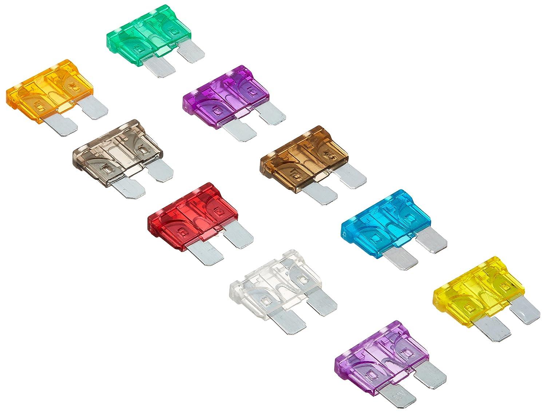 DIGITEN, fusibili standard a lama, per auto, assortiti, 2 A 3 A 5 A 7,5 A 10 A 15 A 20 A 25 A 30 A 35 A (confezione da 100) FBA_FU-29