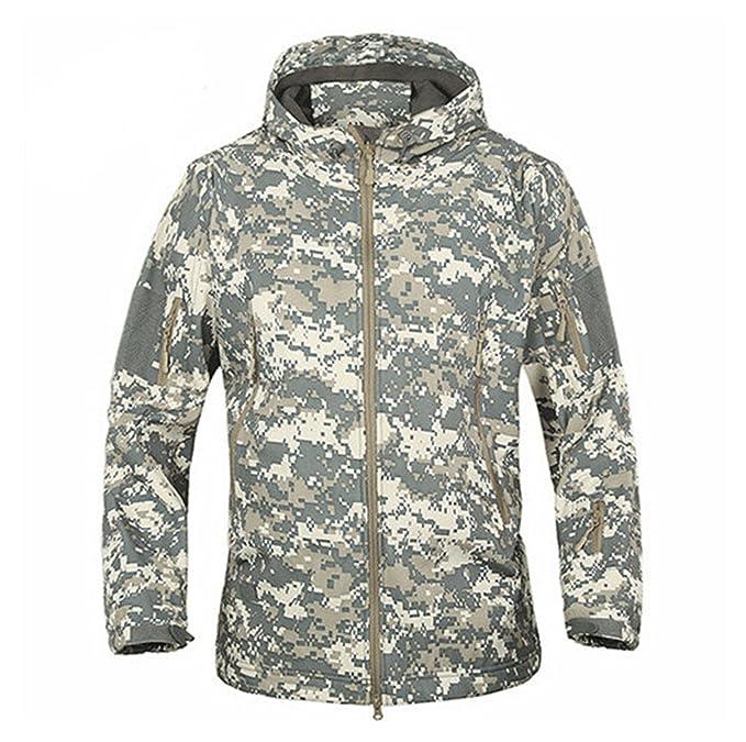 Amazon.com: Chaqueta militar de camuflaje, impermeable, para ...