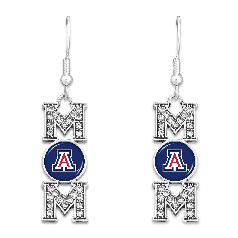 FTH Arizona Wildcats MOM Earrings with Logo and Rhinestones