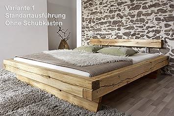 Holzbett massiv 180x200  SAM Massiv-Holzbett 180x200 cm James, Bett aus Wildeiche geölt ...
