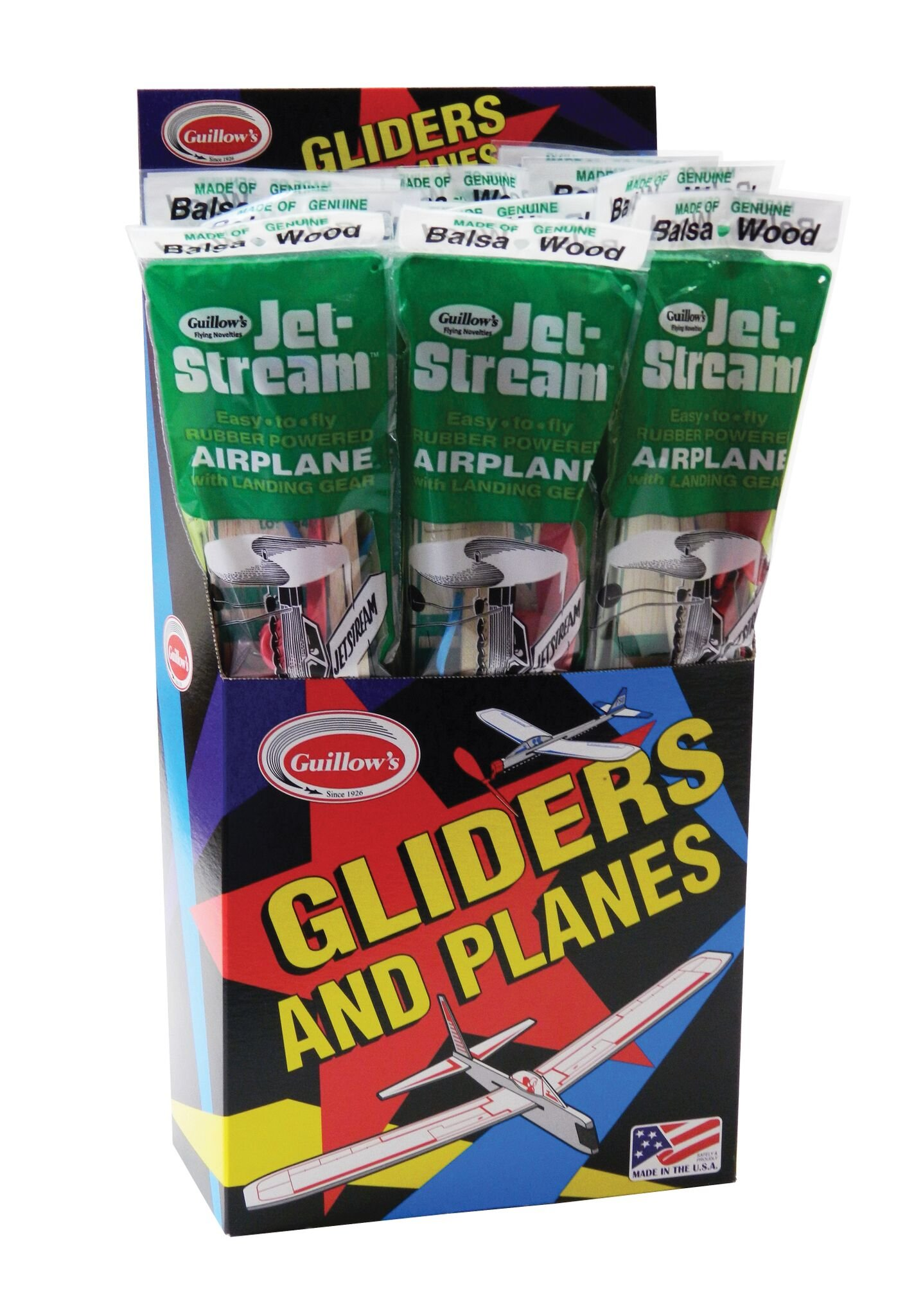 Guillow Jetstream 18 Piece Display Pack by Guillow