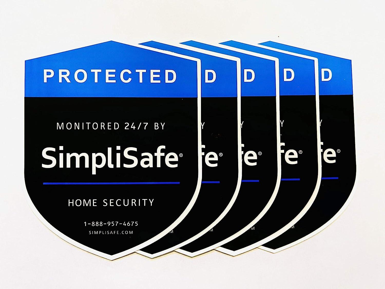 5 Door/Window Stickers - Home Security Alarm Decal for Simpli-Safe