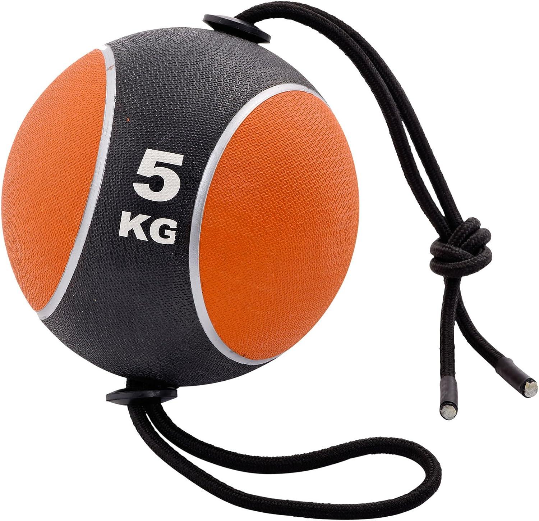 York Fitness - Balón medicinal con cuerda, 5 kg: Amazon.es ...