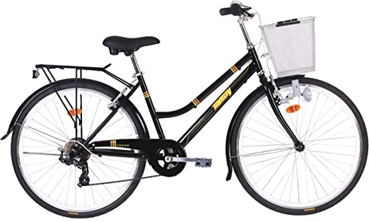 Monty Vintage Bicicleta de Ciudad, Unisex Adulto, Negro, Talla ...