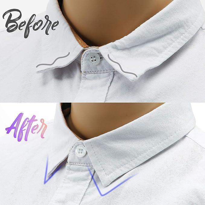 10 Pares Estancias de Cuello Estancias Refuerzo de Cuello de Metal Magnético Refuerzos de Cuello de Camisa de Acero Inoxidable con 20 Imanes Estancias Collar 2.0 x 2.5 Pulgadas: Amazon.es: Hogar