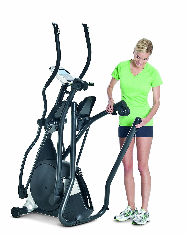 Horizon Fitness Elliptical Ergometer Andes 5 - Elíptica de fitness (plegable, programable, manual, ritmo cardiaco), color negro, plateado, talla 182 x 65 x ...