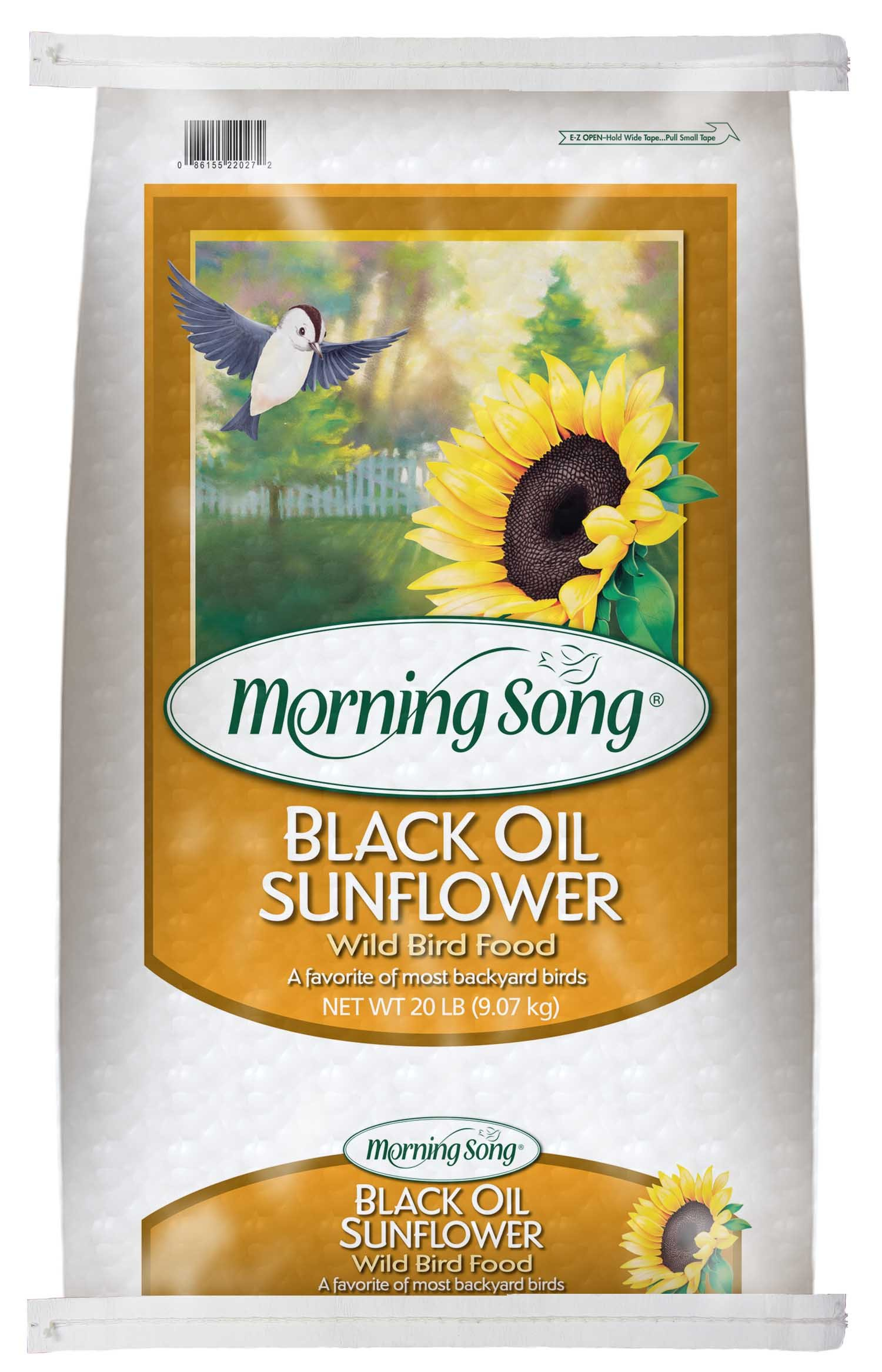Morning Song 11407 Black Oil Sunflower Wild Bird Food, 20-Pound by Morning Song