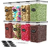 DWËLLZA KITCHEN - Juego de 8 recipientes herméticos para almacenamiento de alimentos, 1,4 l, de plástico, sin BPA, para cocin