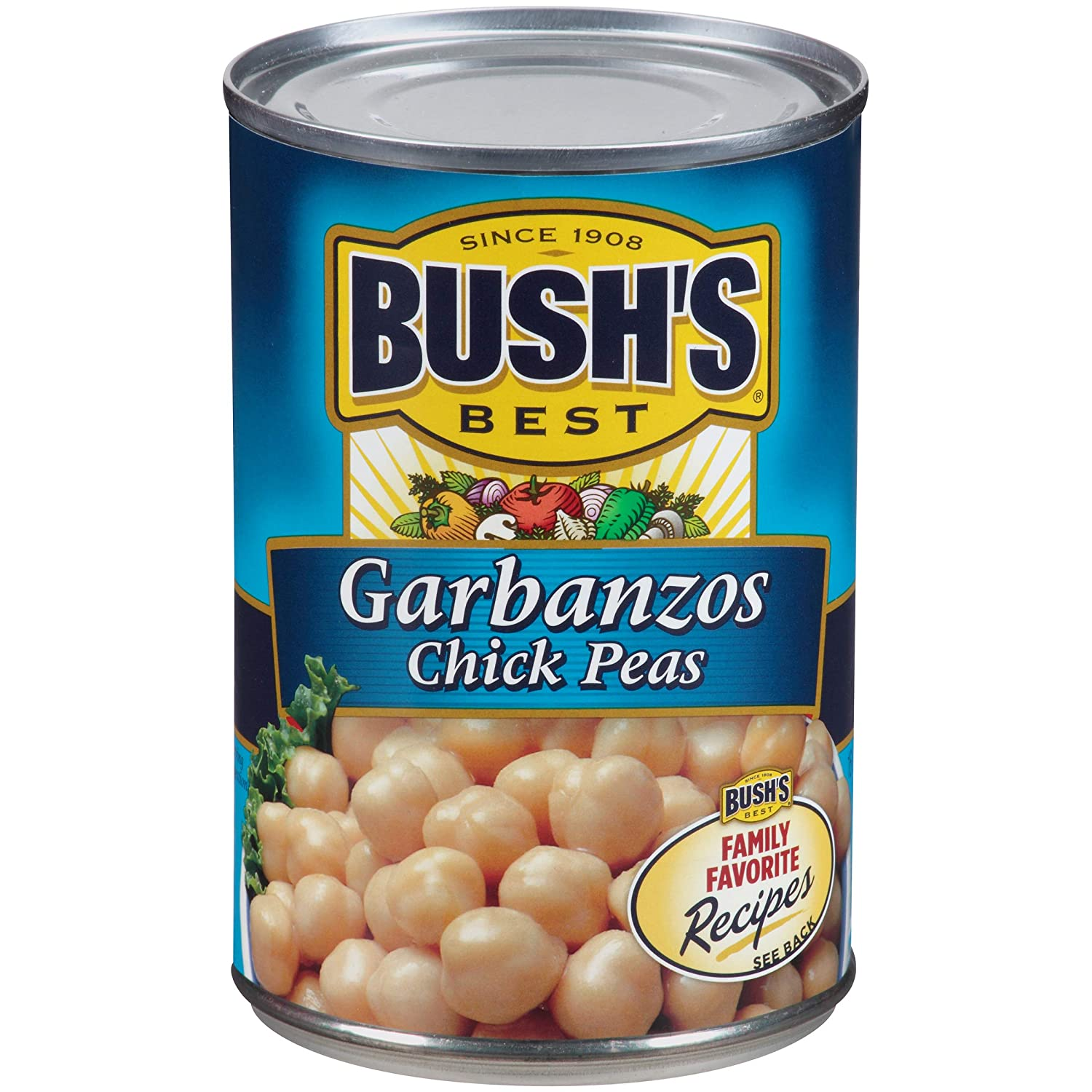 Amazon.com : Bushs Best Reduced Sodium Garbanzo Beans, 16 oz (12 cans) : Grocery & Gourmet Food