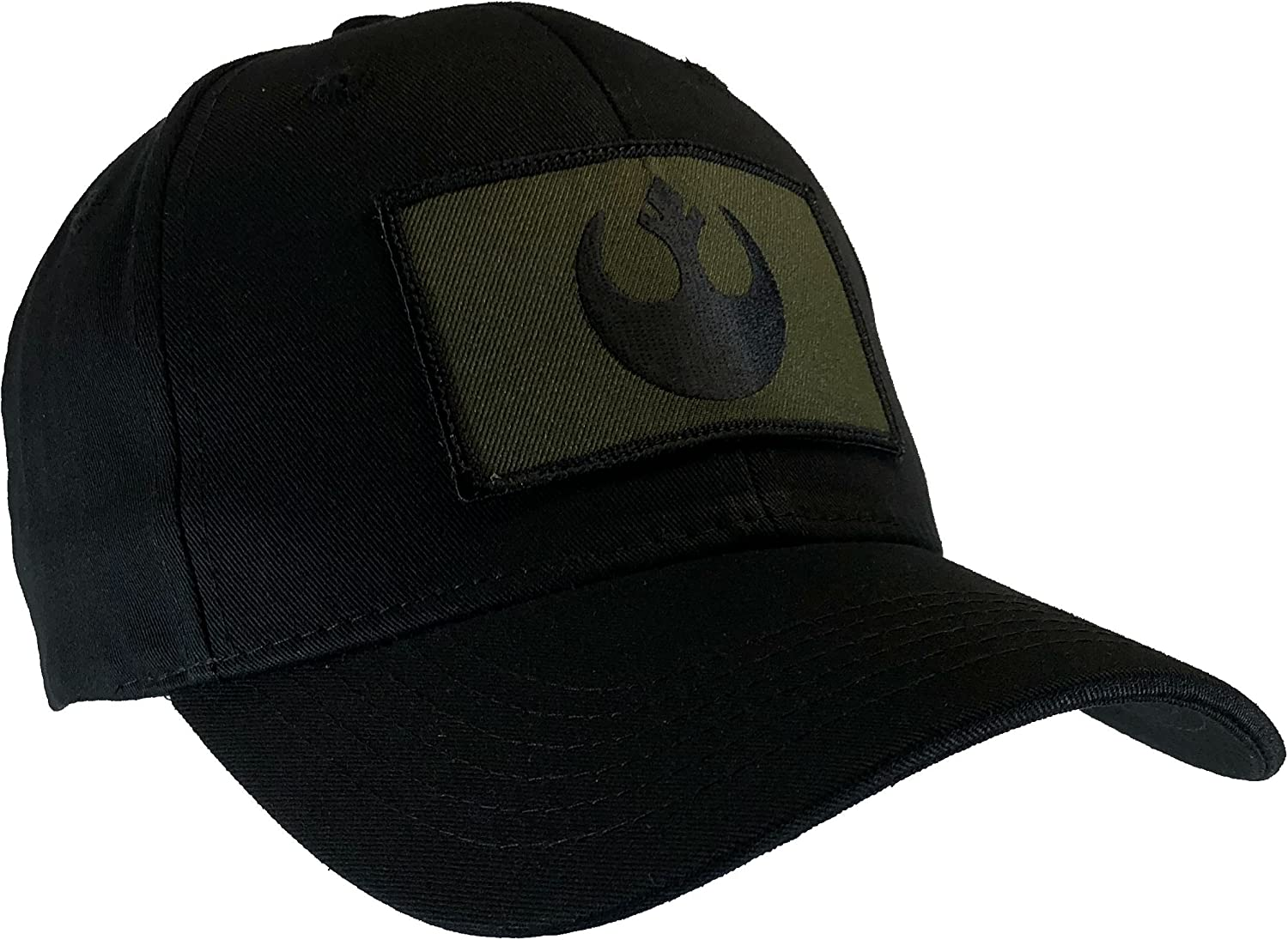 Star Wars Rebel Hat Black Ball Cap Cotton Structured OD Green /& Black Emblem