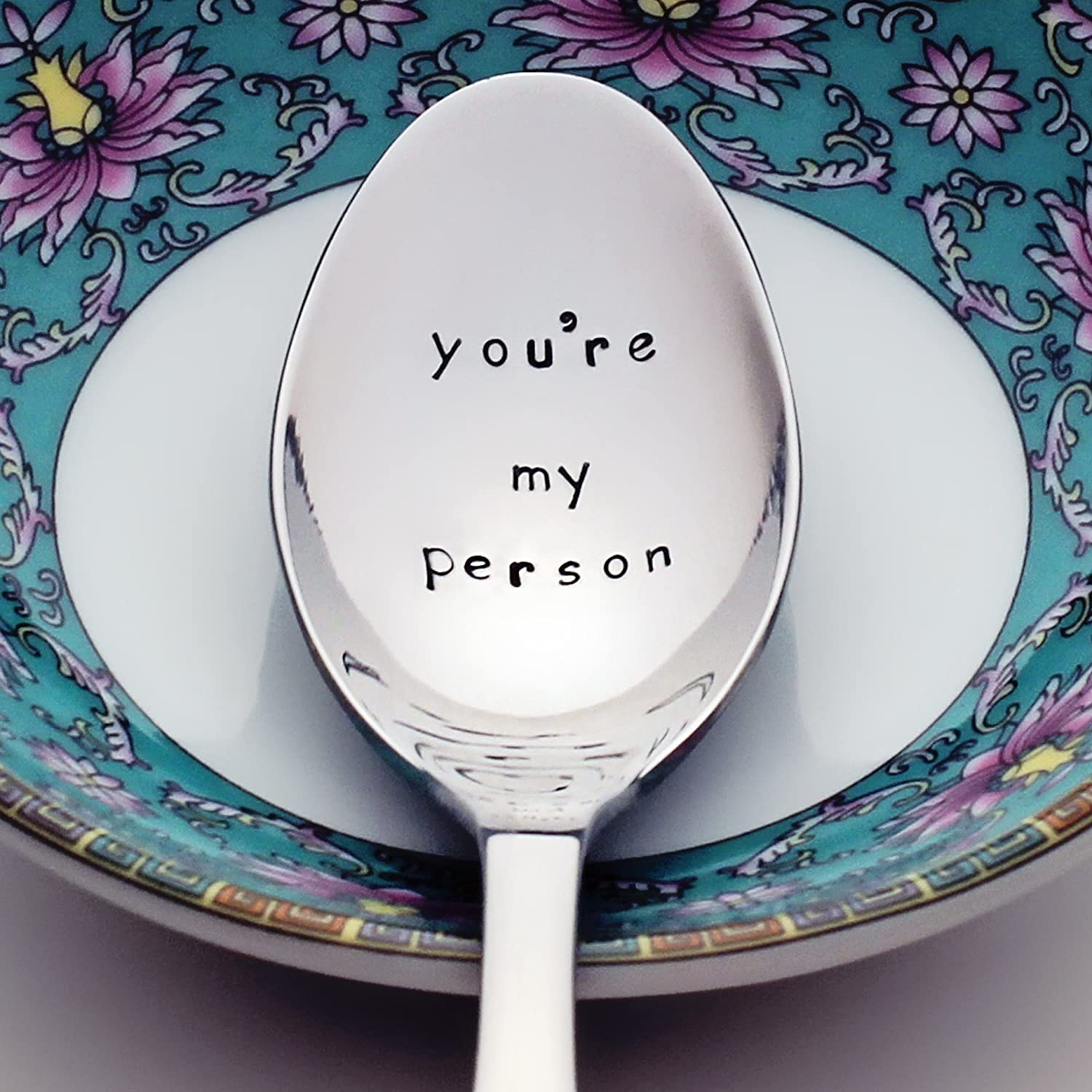 You're My Person - Grey's Anatomy Inspired Stainless Steel Stamped Spoon | Stamped Silverware | Unique Birthday Gifts for Her and Friends | Mother's Day Gift for Mom