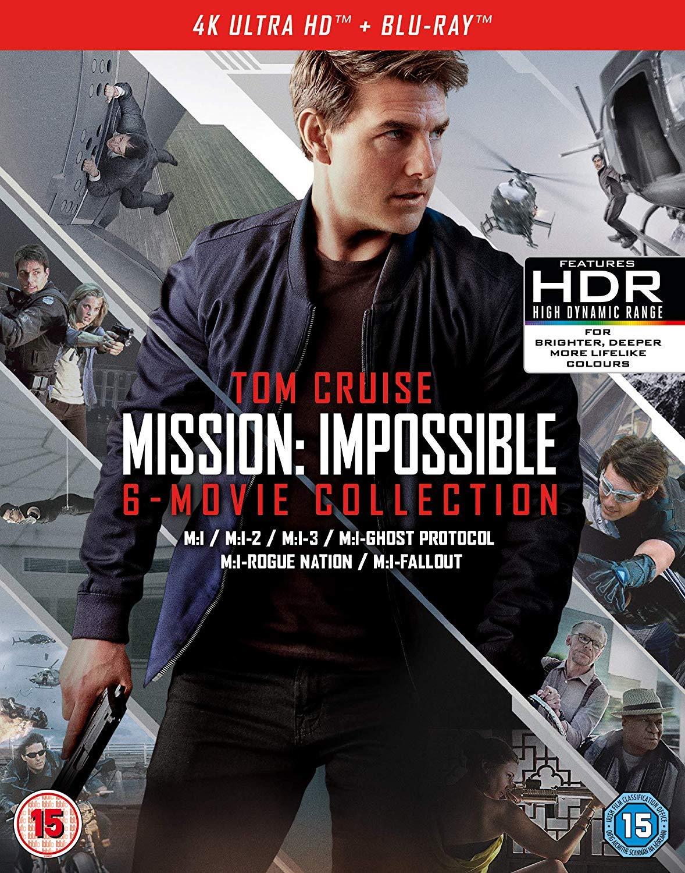 Mission Impossible 1-6 Movie Collection 4Kuhd 13 Blu-Ray Edizione ...