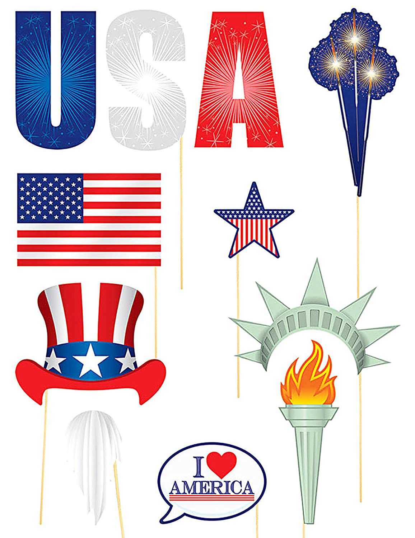 Generique Kit photocall Tema USA 11 Accesorios