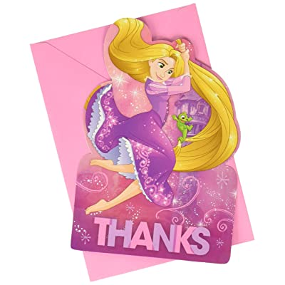 Amscan Postcard Thank You Cards | Disney Rapunzel Dream Big Collection | Party Accessory: Toys & Games