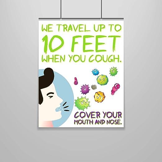 Amazon Com Zap Education Germs Poster 16 X 20 Cold And Flu Funny Art Bathroom Decor Funny Wall Print Bathroom Wall Art Hygiene Poster Health Class Furniture Decor