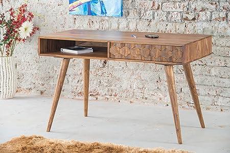 Vintage Mesa escandinava 1 cajón y una caseta Mueble House: Amazon ...