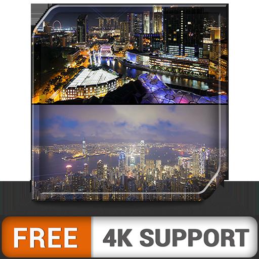 sueño de noche de ciudad gratis: decora tu habitación con hermosos paisajes en tu televisor HDR 8k 4k y dispositivos de fuego como fondo de pantalla y tema para mediación y paz: