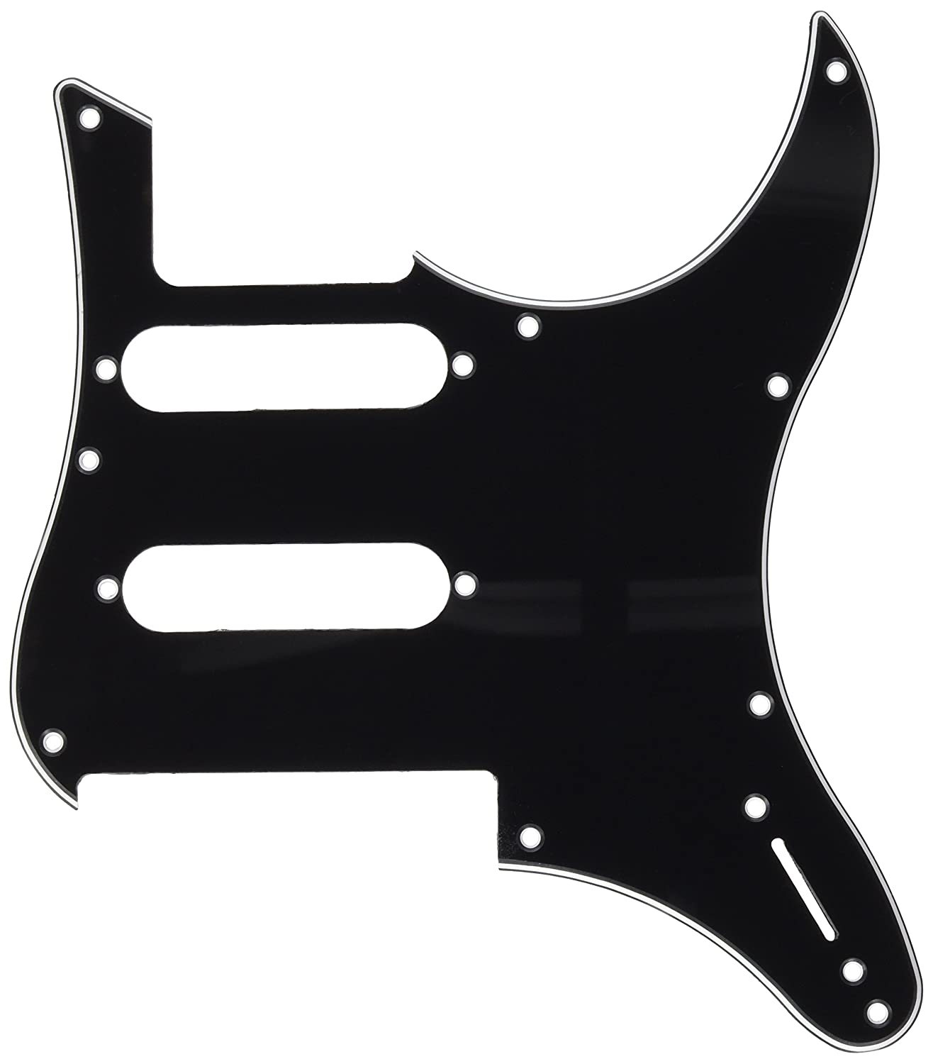 Kmise MI0260 Electric Guitar Pickguard for Yamaha Pacifica 112V Replacement 3-Ply, Black