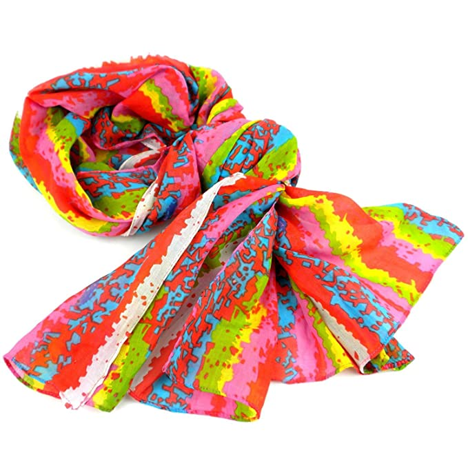 Brighten Up Your Day Cotton Scarf Asha Handicrafts At Amazon
